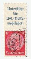 Deutsches Reich 1937 Michel A8b/519, S155. Gestempelt, A 8 B + 12 Pfg. Hindenburg Zusammendruck, S 155. - Zusammendrucke