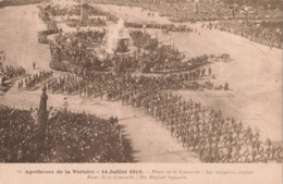 Guerre 1914 1918 Apotheose De La Victoire Juillet 1919 Place De La Concorde Les Drapeaux Anglais - War 1914-18