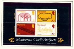 MONTSERRAT - 1975 Carib Artifacts Self Adhesive Booklet Pane Unmounted/Never Hinged Mint - Montserrat