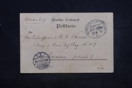 ALLEMAGNE - Oblitération Ambulant Sur Carte De Correspondance En 1893 Pour Gnessen - L 45220 - Covers & Documents