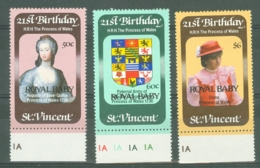St Vincent: 1982   Birth Of Prince William Of Wales OVPT   MH - St.Vincent (...-1979)
