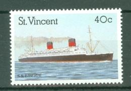 St Vincent: 1989   Ocean Liners    SG1221    40c      MNH - St.Vincent (...-1979)