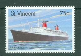 St Vincent: 1989   Ocean Liners    SG1224    75c      MNH - St.Vincent (...-1979)