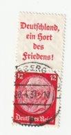 Deutsches Reich 1937 Michel A10/519, S143. Gestempelt, A 10 + 12 Pfg. Hindenburg Zusammendruck, S 143. - Se-Tenant