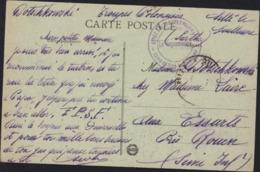 Guerre 14 18 Cachet Dépôt Des Troupes Polonaises Camp Sillé Le Guillaume CPA Sillé Le Guillaume Sarthe Vue Générale - Storia Postale