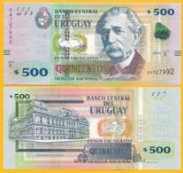 Uruguay 500 Pesos Uruguayos P-97 2014 (Serie E) UNC Banknote - Uruguay