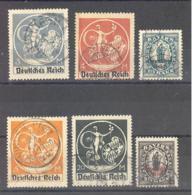 Reich  Michel #  133 : 138  6 X PF I - Allemagne
