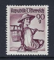 AUSTRIA 1948 FOLK COSTUMES Nº 749B - 1945-60 Neufs