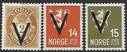 Norway   1941    3 Diff Perf 14   MH    2016 Scott Value $???  14ore Is Not Listed In Scotts With A Perf 14. - Norwegen