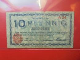 Cöln 10 PFENNIG 1917/18 CIRCULER - [ 2] 1871-1918 : Impero Tedesco
