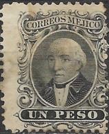 MEXICO 1864 Miguel Hidalgo Y Costilla - 1p - Black MH - Mexico