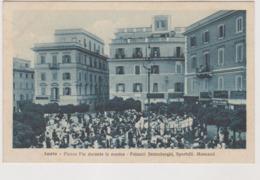 Anzio (RM) Piazza Pia Durante La Musica, Palazzi Senimberghi, Sportelli, Mencacci  - F.p. - Anni  '1910 - Altre Città