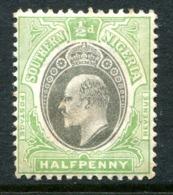 Southern Nigeria 1903-04 KEVII - Wmk. Crown CA - ½d Grey-black & Pale Green HM (SG 10) - Nigeria (...-1960)