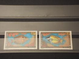 WALLIS FUTUNA - 1993 PESCI 2 VALORI - NUOVI(++) - Wallis E Futuna