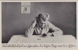 German Feldpost WW2: Postcard Humour Soldiers Card From Festungs Bataillon 645 In Neuhammer (Ostlager Stanz) - Militaria