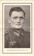 Militaire Allemand, Avis De Déces Du 25 AOUT 1944 A Paris     (bon) - Documenti