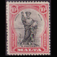 MALTA 1928 - Scott# 183 St.Paul 10s LH - Malta
