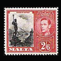 MALTA 1938 - Scott# 203 Neptune Statue 2.6s LH - Malta