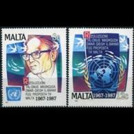 MALTA 1987 - Scott# 707-8 Marine Resources Set Of 2 MNH - Malta