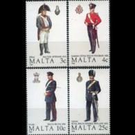 MALTA 1989 - Scott# 739-42 Mil.Uniforms Set Of 4 MNH - Malta