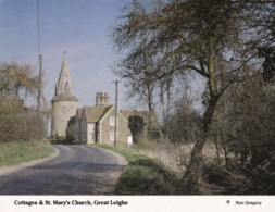 AM57 Cottages And St. Mary's Church, Great Leighs - England