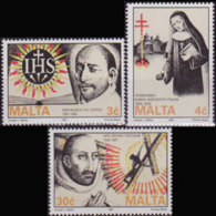 MALTA 1991 - Scott# 771-3 Jesuit Order Set Of 3 MNH - Malta