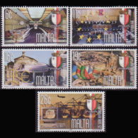 MALTA 1999 - Scott# 993-7 Rep.25th. Set Of 5 MNH - Malta