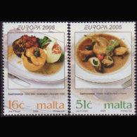 MALTA 2005 - Scott# 1202-3 Europa-Foods Set Of 2 MNH - Malta