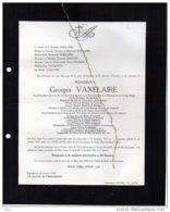 Georges Vaxelaire °Bruxelles 1873 + 20/10/1942 Laeken Saint Josse Delahye Consul Urquie Pologne Congo Belge - Obituary Notices