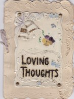 AN50 Embossed Greetings Card - Loving Thoughts, Christmas - Other