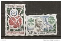 1967 - N° 215 à 216**MNH - Agence Internationale à L'énergie Atomique - Pape Paul VI - Gabon (1960-...)