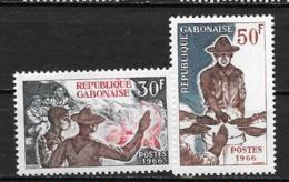 1966 - N° 199 à 200 **MNH - Scoutisme - Gabon (1960-...)