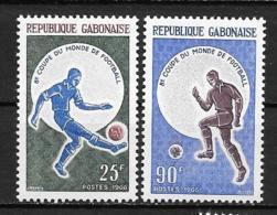 1966 - N° 194 à 195**MNH - Coupe Du Monde De Football à Londres - Gabon (1960-...)