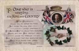 AR74 Military - WWI - To One Who Is Serving For King And Country - War 1914-18