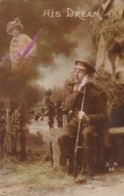 AR74 Military - His Dream - Soldier Thinking Of His Love - War 1914-18