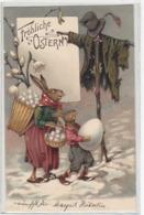Hasen Grüssen Vogelscheuche - Sign.A.Thiele - 1906               (91021) - Thiele, Arthur