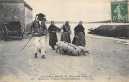 CPA 29 PLOUGASTEL DEPART POUR LE MARCHE - Plougastel-Daoulas