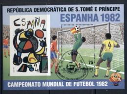 Sao Tome Et Principe 1982 World Cup Soccer Championships MS CTO - Sao Tomé E Principe