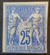 COLONIES FRANCAISES 1877/79 - Canceled - YT 35 - 25c - Sage