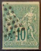 COLONIES FRANCAISES 1877/79 - Canceled - YT 32 - 10c - Sage