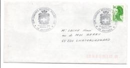 OBLITERATION CONGRES REGIONAL DE PHILATELIE à ANTIBES 1985 - Postmark Collection (Covers)