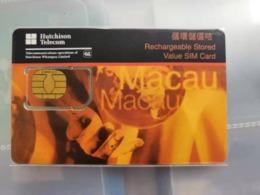 China,Macao GSM SIM Card,used - Cina