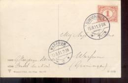 Langebalk Warffum - Scheveningen - Groningen - 1911 - Poststempel