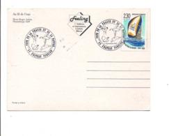 OBLITERATION FETE DE LA CHASSE ET DE LA NATURE à CHATEAU PORCIEN ARDENNES1990 - Postmark Collection (Covers)
