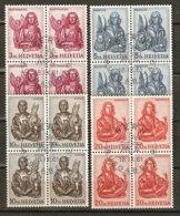 ACTION Zu 381-384 / Mi 738-741 / YT 660C-F Blocs De 4 Obl. 1er Jour SBK 400,- Voir Description - Used Stamps