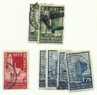1934 - Belgio 386x2 + 387 + 389x4  Esposizione Di Bruxelles                   C3773 - 1935 – Brüssel (Belgien)