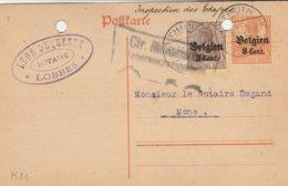 Thuin Vers Mons - Cachet Privé Notaire Leon Duquesne à LOBBES - Trous De Classement - [OC26/37] Staging Zone