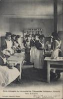 Guerre 14 FM Cachet Croix Rouge Française SABM Hôpital Auxilaire Rue Charité CAD Roanne CP Ecole Ménagère Pensionnat - Guerre De 1914-18