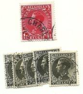1934 - Belgio 401x5 + 403 Effigie                  C3774 - 1935 – Brüssel (Belgien)