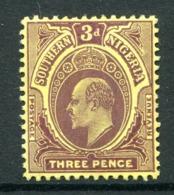 Southern Nigeria 1907-11 KEVII - Wmk. Mult. Crown CA - 3d Purple On Yellow HM (SG 37) - Nigeria (...-1960)